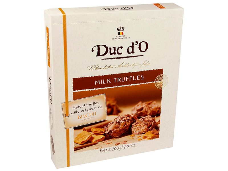 Duc d´O Milk Truffles with Biscuits Lanýže 200g