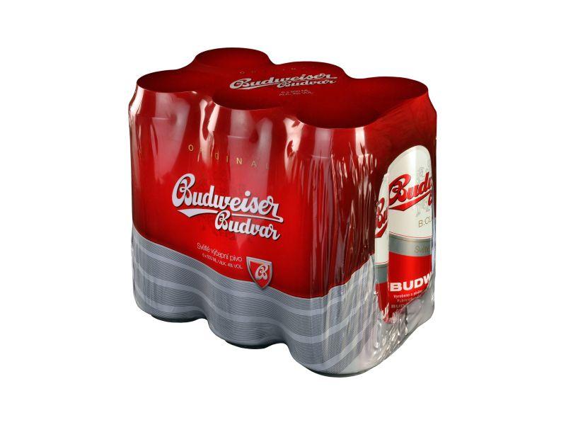 Budweiser Budvar B:Classsic světlé výčepní pivo 6 x 0,5l, plech