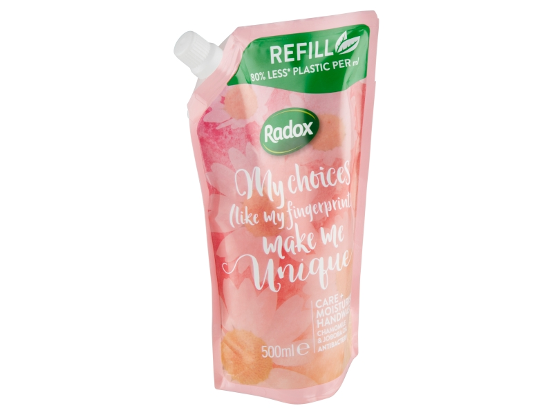 Radox Care + Moisturise tekuté mýdlo náhradní náplň 500ml