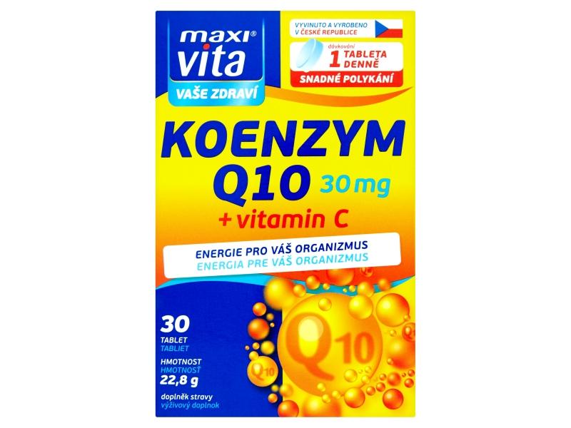 MaxiVita Koenzym Q10 + vitamín C 30 tablet