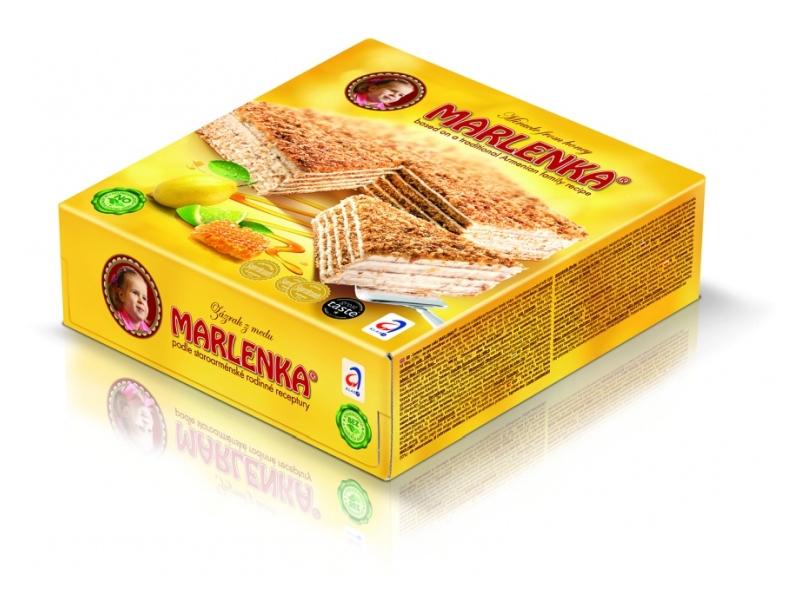 Marlenka Citrónový medový dort 800g