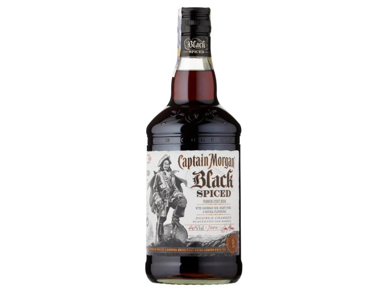 Captain Morgan Black Spiced Rum 40% 700ml