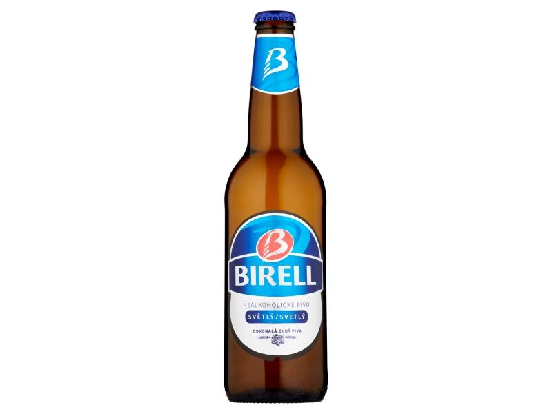 Birell Světlý nealkoholické pivo 500ml, sklo