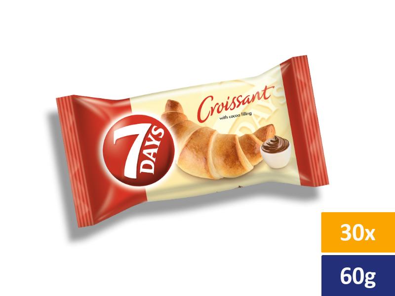 7DAYS Croissant Kakao, balení 30 x 60g