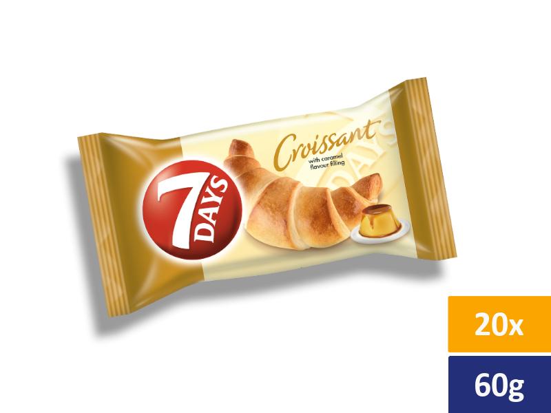 7DAYS Croissant Karamel, balení 20 x 60g
