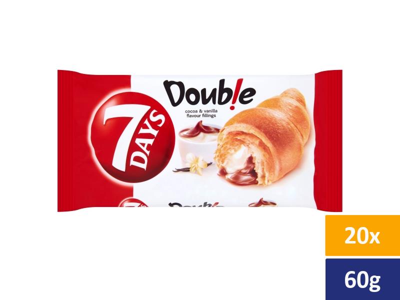 7DAYS Croissant Double Kakao + Vanilka, balení 20 x 60g
