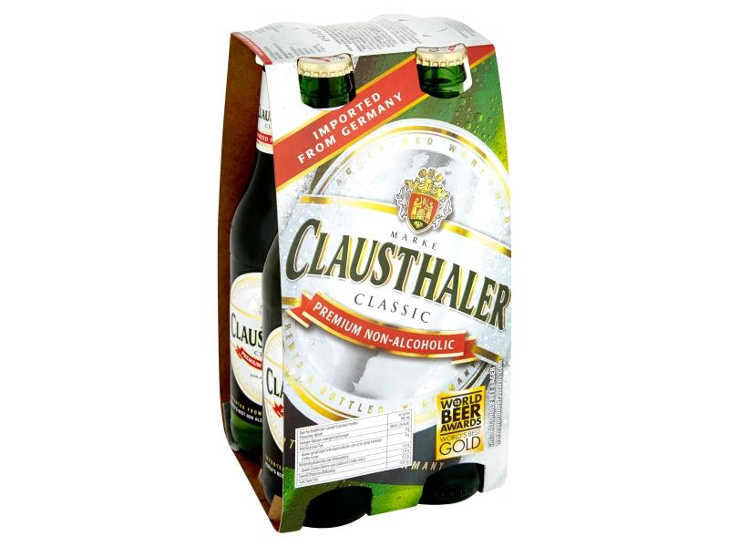 Clausthaler Classic nealkoholické pivo 4x0,33l, sklo