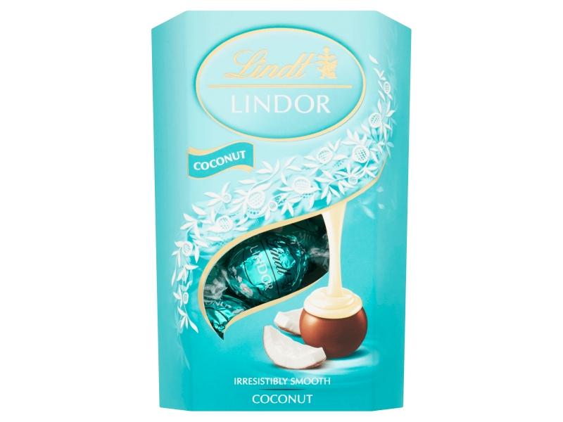 Lindt Lindor Coconut kokosové pralinky, 200g