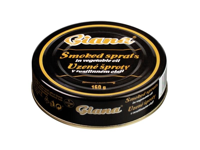 Giana Uzené šproty v oleji 160g