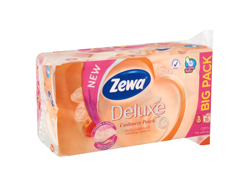 Zewa Deluxe Cashmere Peach toaletní papír 16 rolí