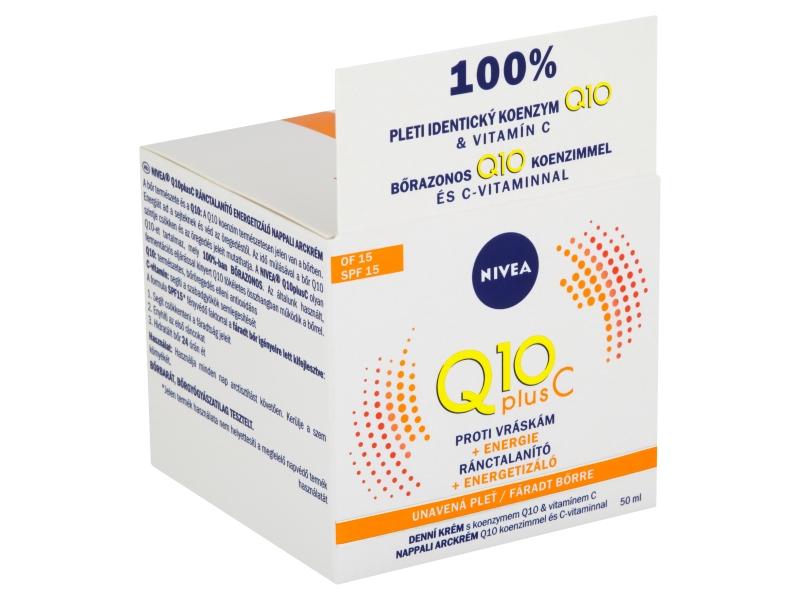 Nivea Q10 Plus C Energizující denní krém proti vráskám OF 15, 50ml