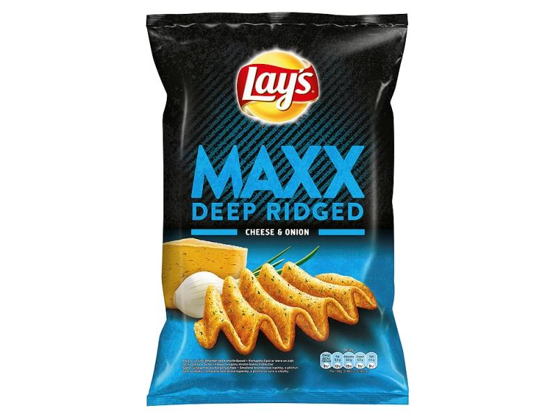 Lay´s Maxx Chipsy s příchutí sýra a cibulky 130g
