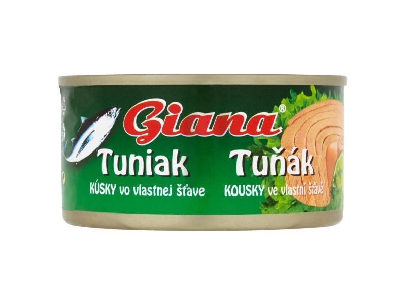 Giana Tuňák kousky ve vlastní šťávě 185g