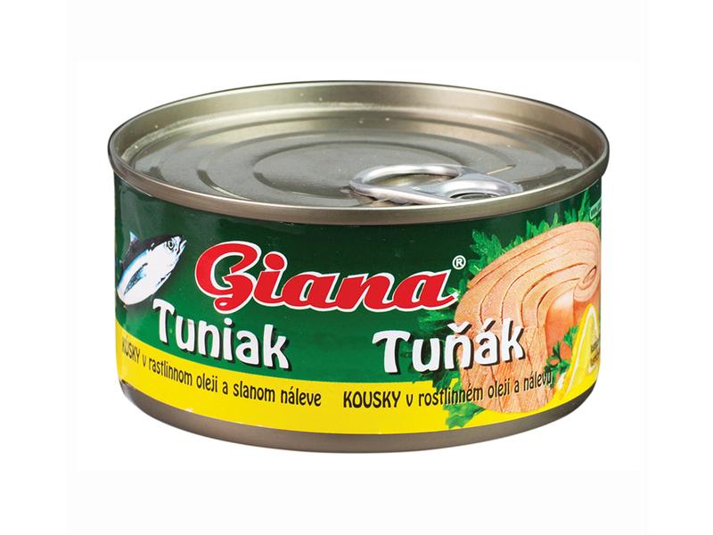 Giana Tuňák kousky v rostlinném oleji a slaném nálevu 185g