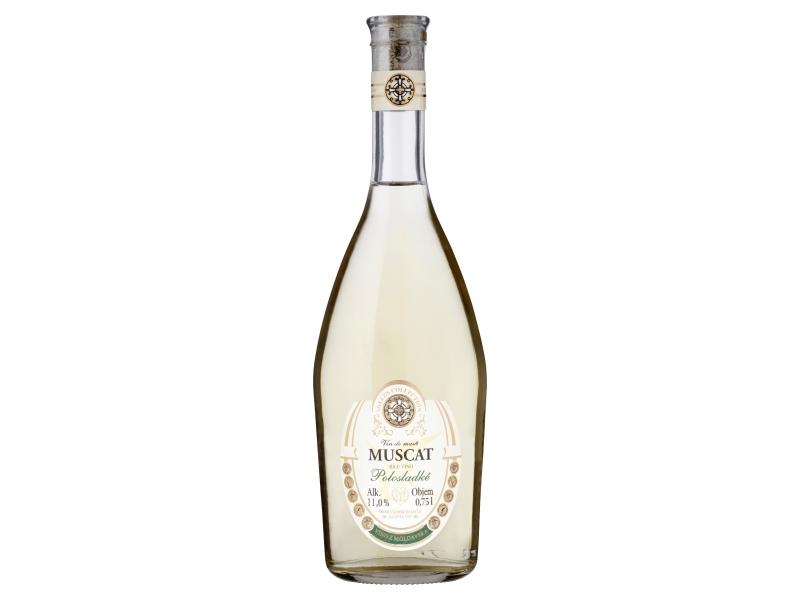 Sollus Muscat bílé víno polosladké 0,75l