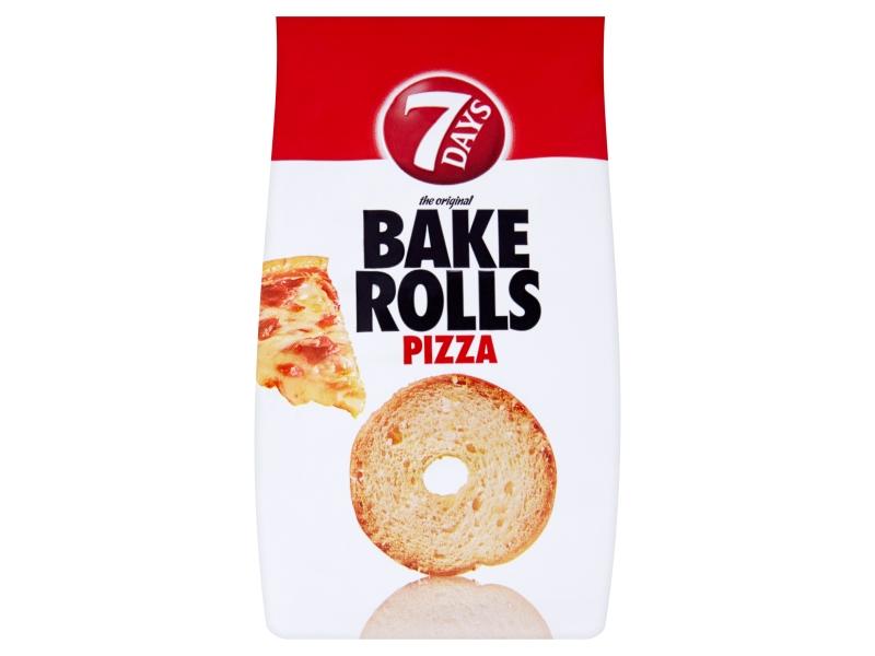 7Days Bake Rolls Křupavé chipsy s příchutí pizzy 70g