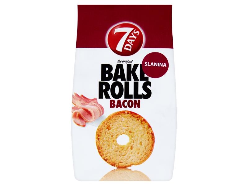7Days Bake Rolls Křupavé chipsy s příchutí slaniny 80g