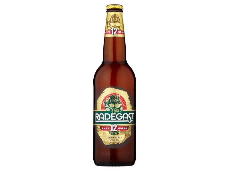 Radegast Ryze hořká 12 pivo ležák světlý 0,5l, sklo