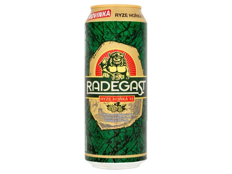 Radegast Ryze hořká 12 pivo světlý ležák 500ml, plech