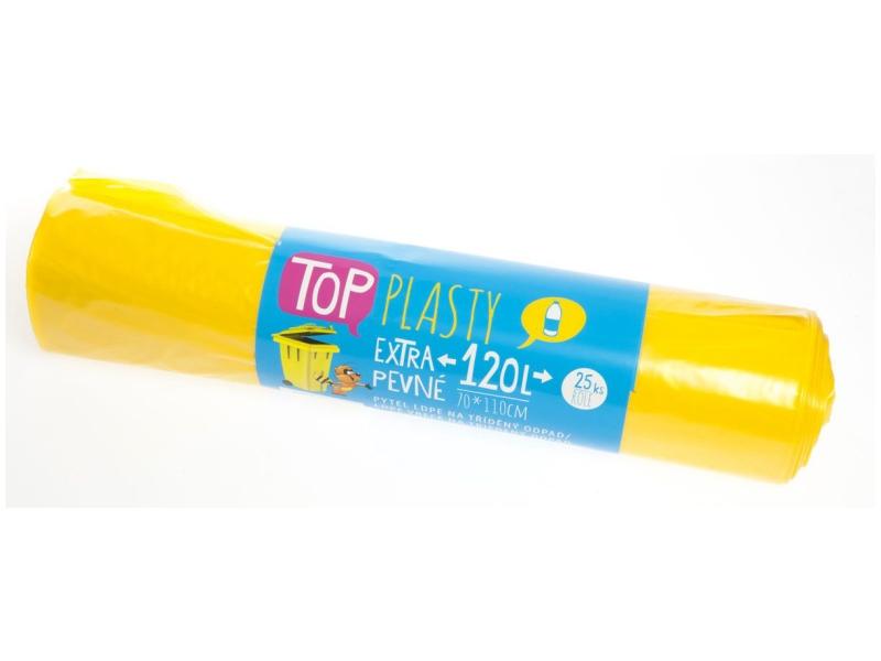 TOP Pytle na tříděný odpad (plast) žluté 120l 25ks