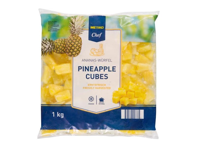 Metro Chef Ananasové kostky mražené 1kg