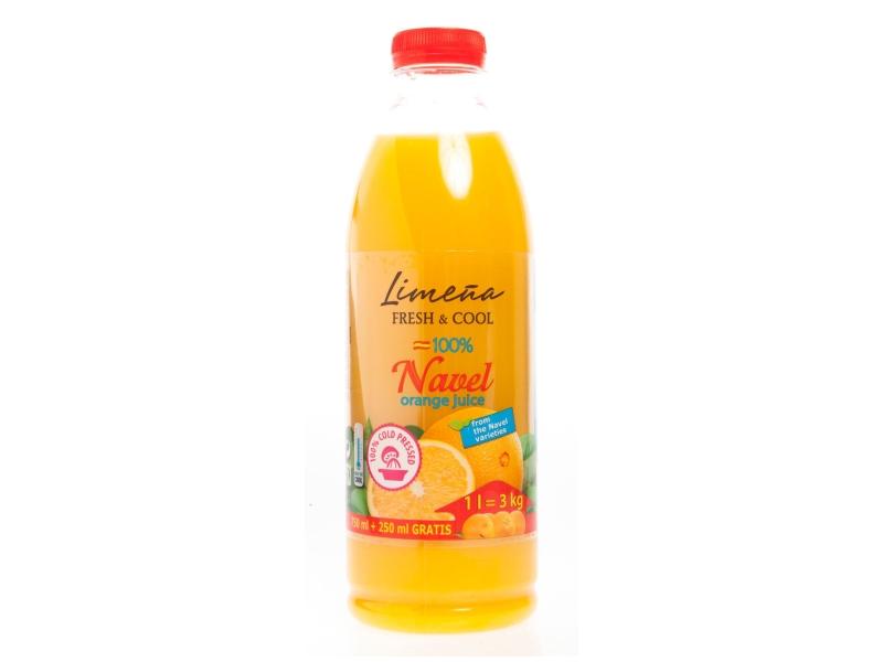 Limeňa Fresh & Cool Šťáva pomerančová s dužinou 100% 1L