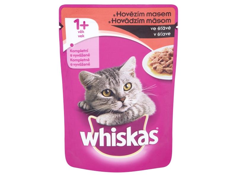 Whiskas S hovězím masem ve šťávě 100g
