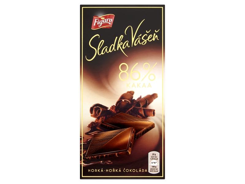 Figaro Sladká Vášeň 86% kakaa hořká čokoláda 100g