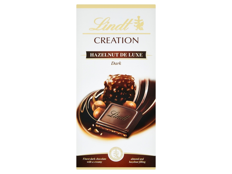 Lindt Creation Hořká čokoláda plněná Hazelnut de Luxe 150g