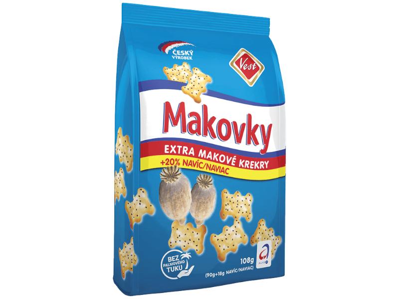 Vest Makovky Extra makové krekry 90g