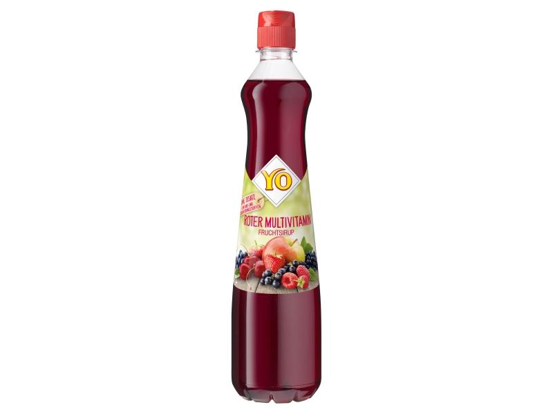 YO Multivitaminový sirup z více druhů červeného ovoce 0,7l