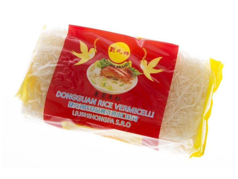 Liu Shi Nudle rýžové kulaté 400g