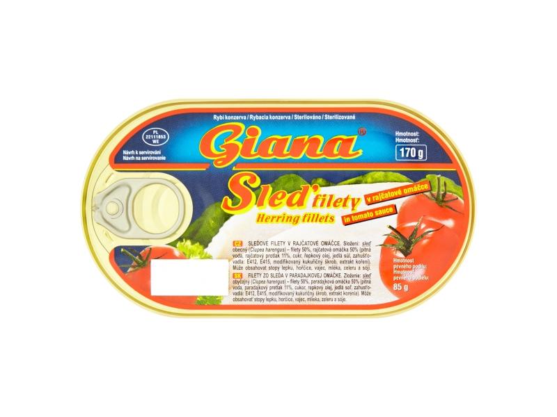 Giana Sleď filety v rajčatové omáčce 170g
