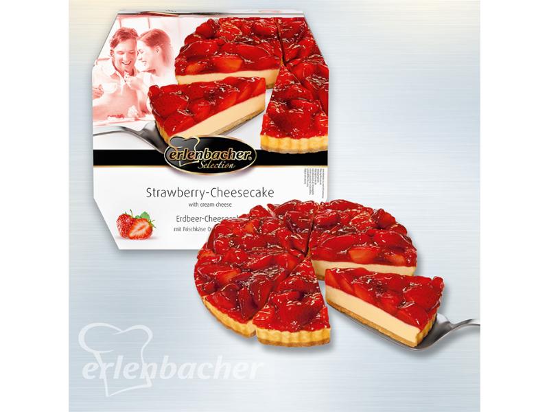 Erlenbacher Cheesecake jahodový mražený 1100g