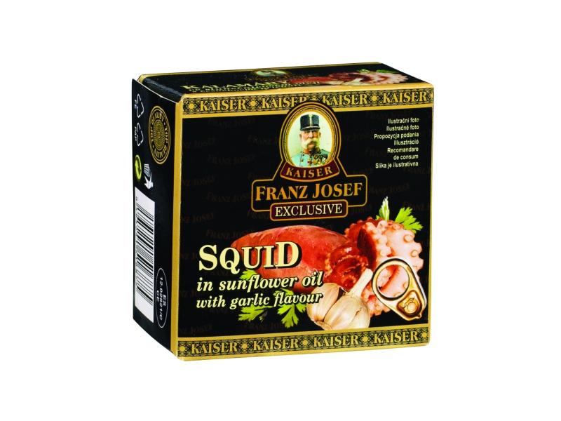 Franz Josef Kalamáry olej a česnek 80g