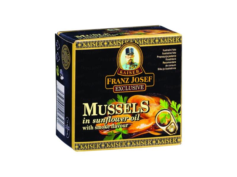 Franz Josef Mušle v oleji s uzenou příchutí 80g