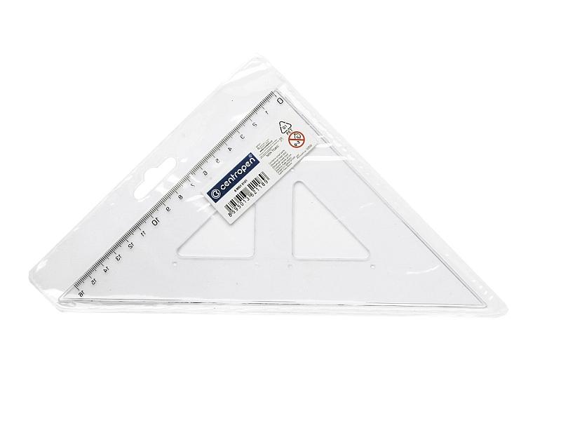 Centropen Trojúhelník s ryskou 1ks