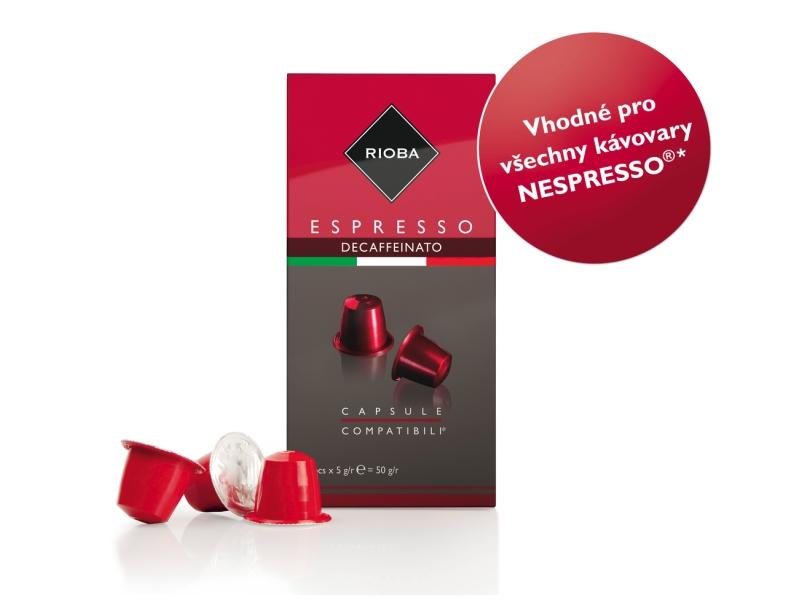 Rioba Espresso Decaffeinato Nespresso kapsle 10 x 5g