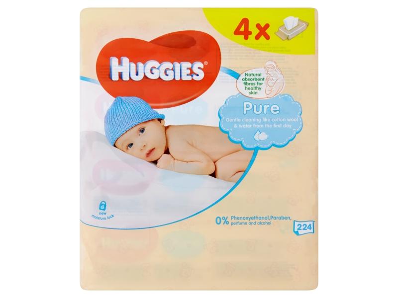 Huggies Pure Dětské ubrousky 4x56 ks