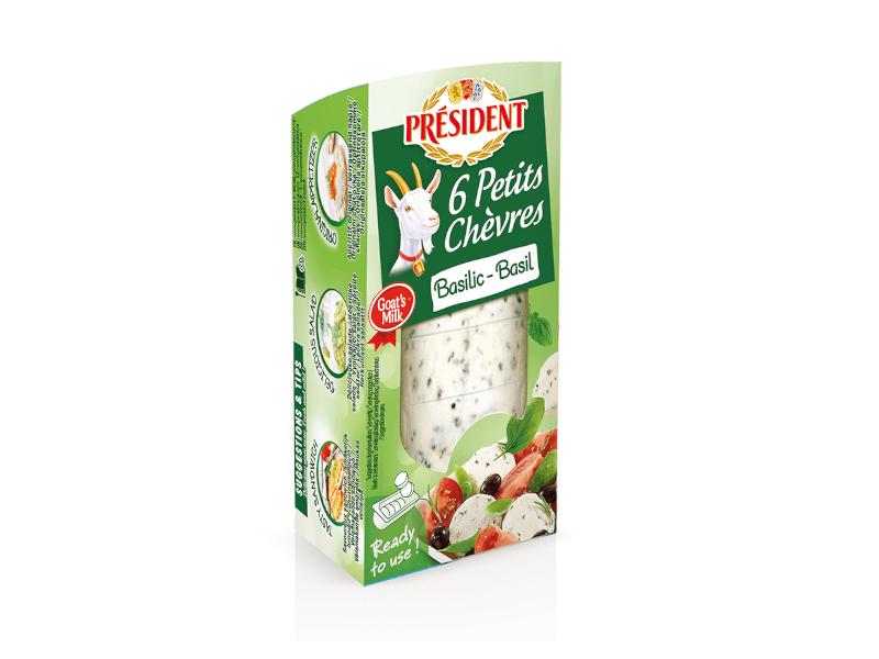 Président 6 Petits Chèvres Basilic kozí sýr s bazalkou 100g