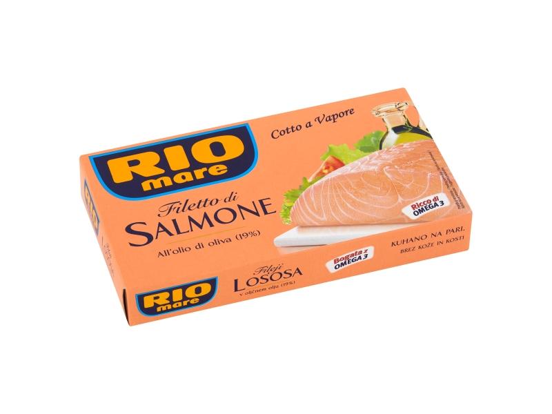 Rio Mare Filety z lososa v olivovém oleji 150g