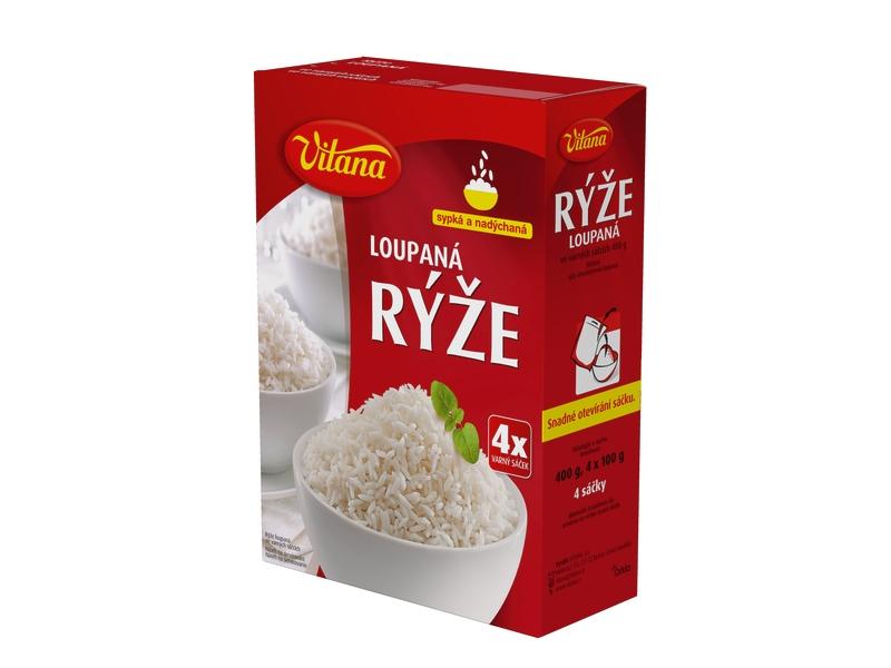Vitana Rýže dlouhozrnná, varné sáčky 4x100g
