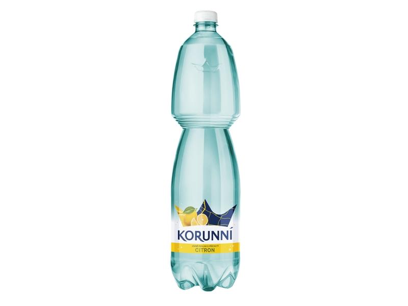 Korunní Citron jemně perlivá voda 1,5l