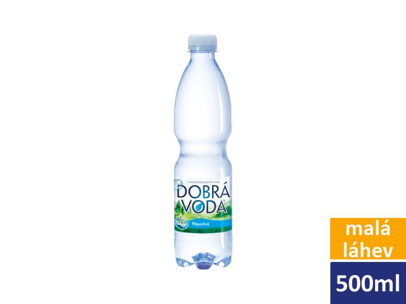 Dobrá voda neperlivá 0,5l, malá láhev