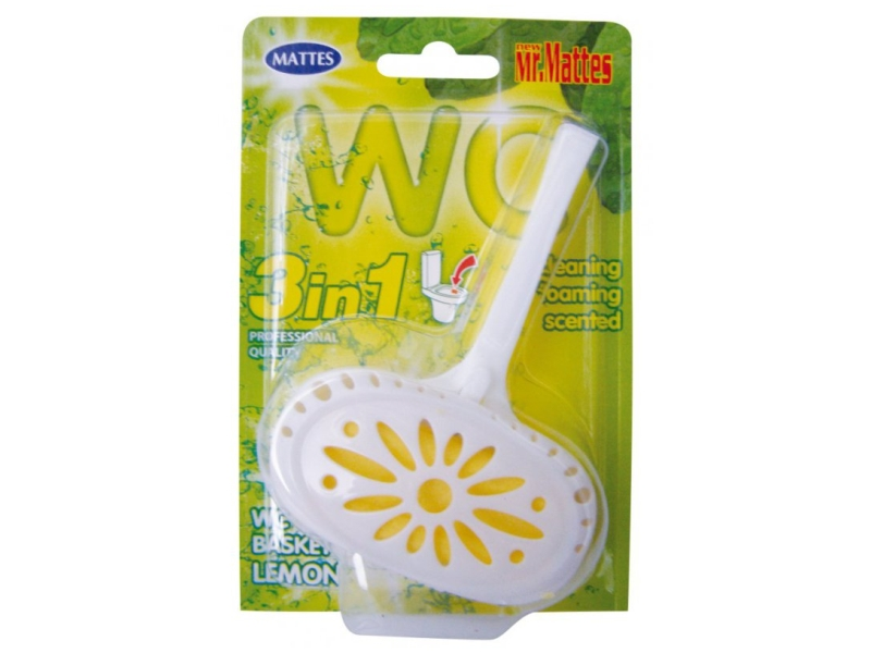 Mr.Mattes WC košíček 3in1 s vůní citrónů 40g