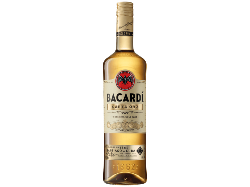 Bacardí Carta Oro Rum 37,5%, 1l
