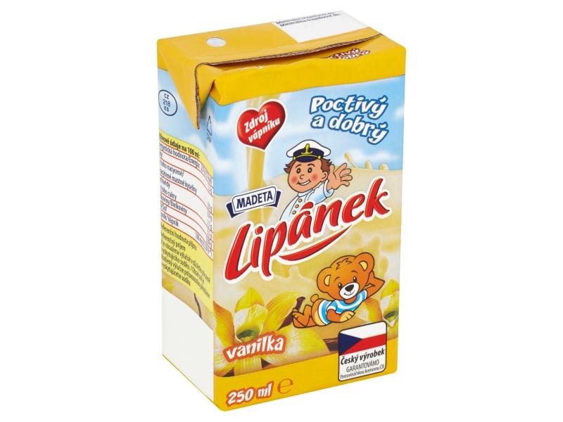 Madeta Lipánek mlíčko vanilka 250ml