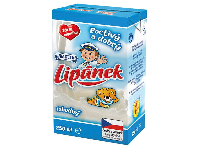 Madeta Lipánek mlíčko bez příchutě 250ml