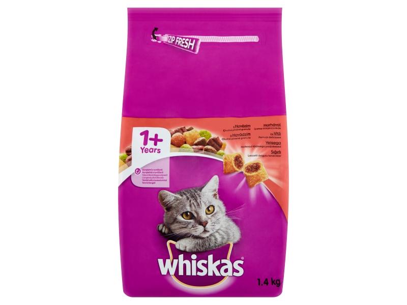 Whiskas Kompletní krmivo pro dospělé kočky s hovězím 1,4kg