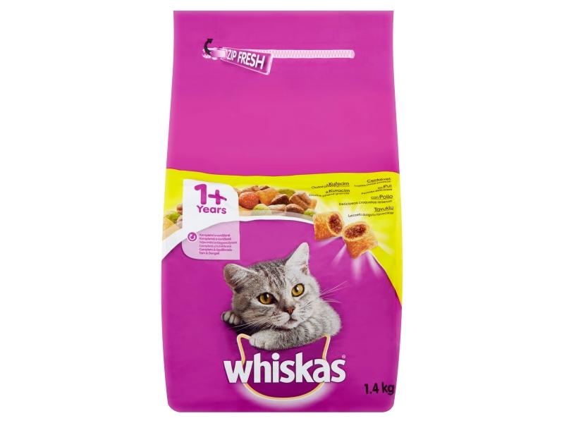 Whiskas Kompletní krmivo pro dospělé kočky s kuřecím 1,4kg